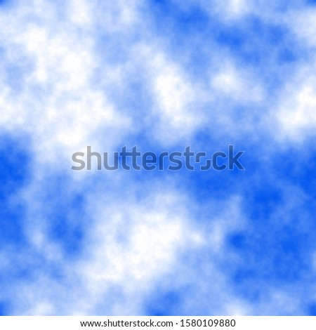 Background with seamless clouds pattern. Colors: denim, indigo, navy blue, blue, blue violet.