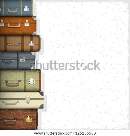 background with suitcases....