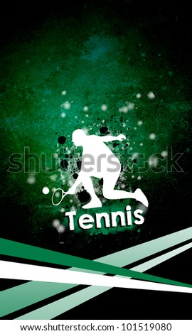 Background with tennis player (web, leaflet, magazine)
