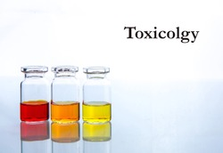 Background with toxicology test tubes
