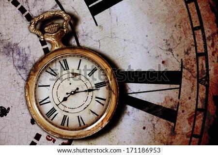 background with vintage clocks