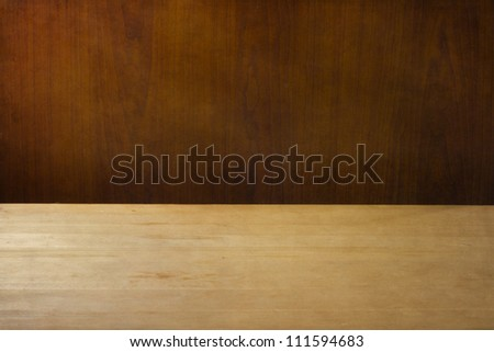 Background with wood table deck texture