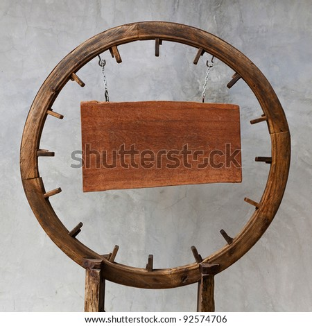 background with wooden circle board