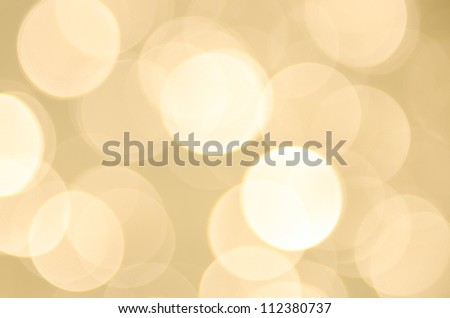 Background with yellow bokeh ligths