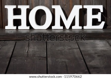 Background Wood texture Text HOME