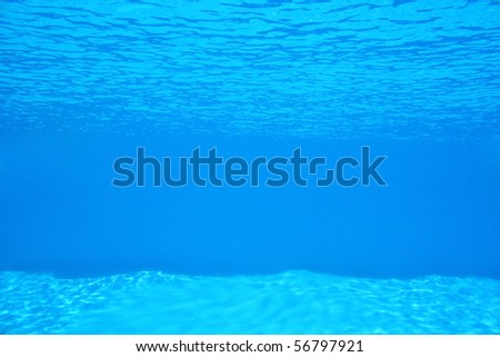 Backgrounds And Textures - Water - View under the water in a blue swimming pool.