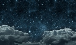backgrounds night sky with stars and clouds. Elements of this image furnished by NASA