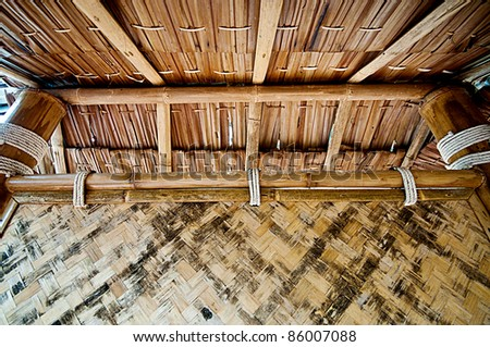 backgrounds of bamboo roof