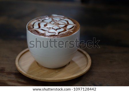 Backgrounds of Latte coffee. #1097128442