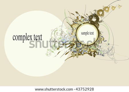 Backgrounds on abstract and grunge elements with blank space for complex and sample text.