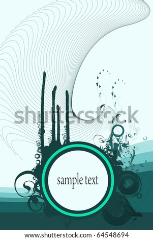 Backgrounds on abstract and grunge elements with space for sample text.