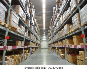 Stock photo for the background.Warehouse for shipping.