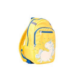 Backpack isolated on white background. Children's school satchel, colored briefcase for teens