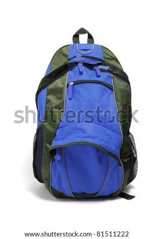 Backpack on Isolated White Background