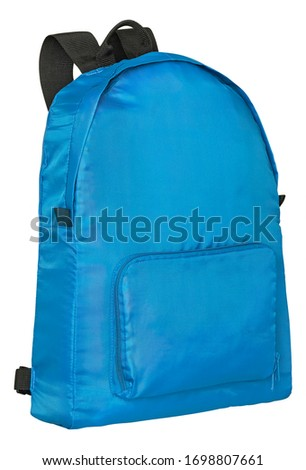 Backpack outdoor and travel gear isolated on whitebackground