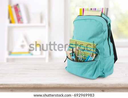 backpack with school supplies...
