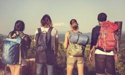 Backpacker Camping Hiking Journey Travel Trek Concept
