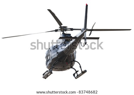 Backside of isolated helicopter