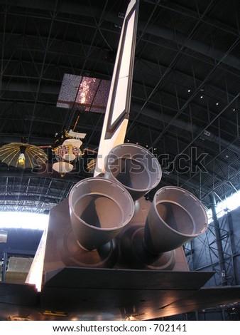 Backside of space shuttle,