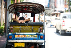 Backside TukTuk Thailand Car Scooter