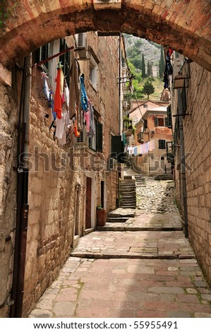 Backstreet in Kotor, Montenegro