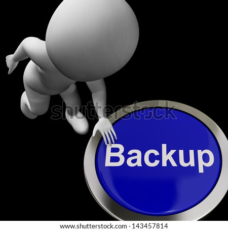 Backup Button For Archives And Data Storage