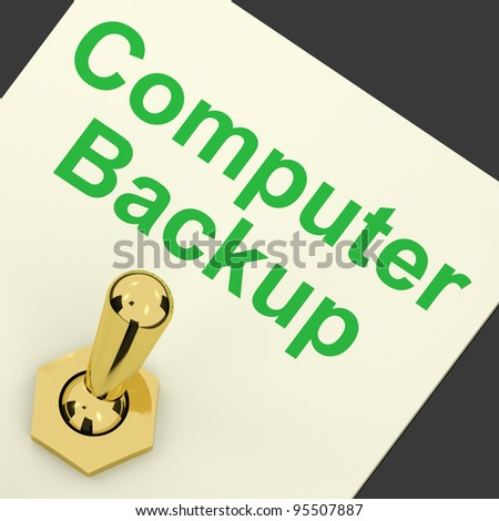 Backup Computer Switch For Data Archiving And Storage