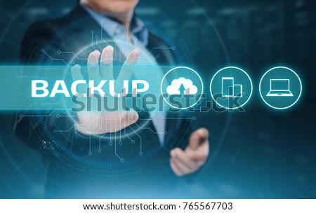 Backup Storage Data Internet Technology Business concept. #765567703