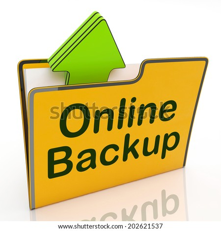 Backup Upload Representing World Wide Web And Web Site