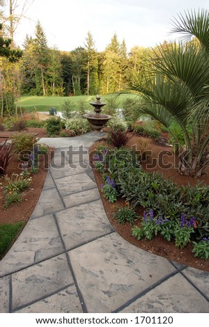 backyard path to golf course