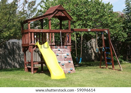 backyard play area