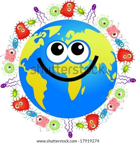 Stock photo bacteria globe 17919274