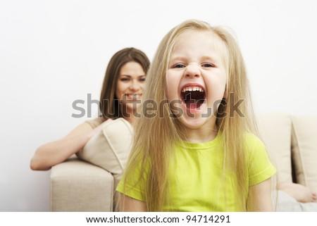 Bad child girl portrait