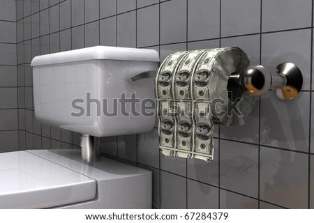 bad investment icon - stock photo