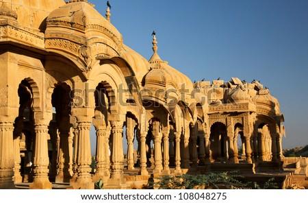 Bada Bagh Cenotaph in Jaisalmer,India
