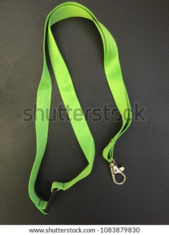 Badge cord for ID card or Badge reel. Neck Cord Strap Lanyard, Key, Greed  Card and Badge Holder green Color. Office Products concept. Key-Bak Sidekick Professional Heavy Duty Self Retracting ID Badge