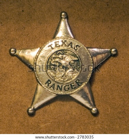Badge for a texas ranger - stock photo