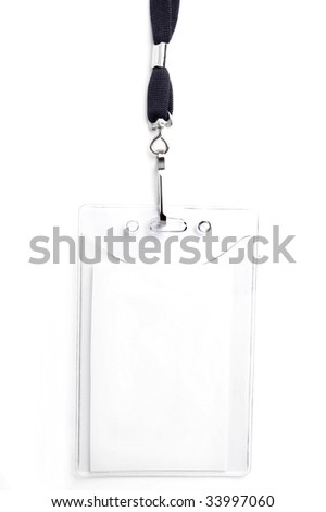 badge ID isolated on white, ready for your text