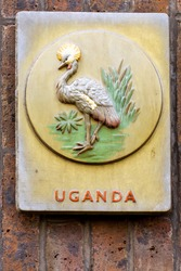 badge of the Uganda Protectorate (1914-1962) contining an Ugandan kob