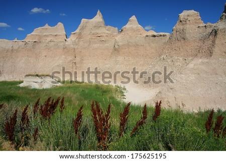 Badlands - stock photo