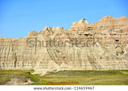 Badlands Landscape. Badlands National Park in South Dakota, U.S.A. Sandstone Formations. American National Parks Photo Collection.