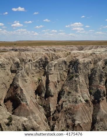 Badlands of South Dakota - stock photo