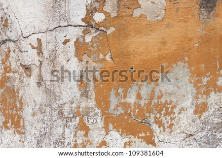Badly damaged plaster wall wallpaper  background