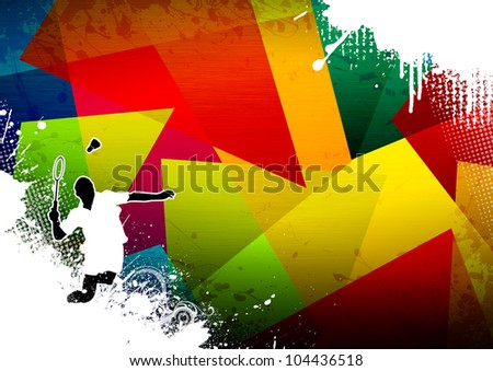 Badminton background with space (poster, web, leaflet, magazine)