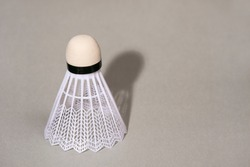 Badminton shuttlecock isolated on the gray background