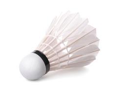 Badminton shuttlecock isolated on white