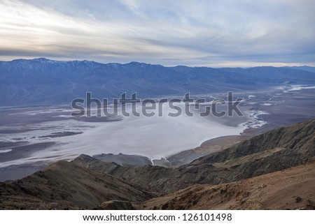 Badwater basin view (vista) from Dante's View