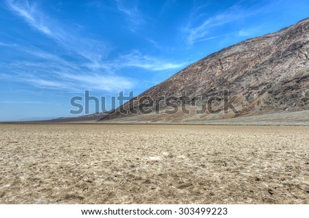 Badwater Point, Death Valley, USA. One of the hottest places on the planet. Known for the bitter taste of its water.