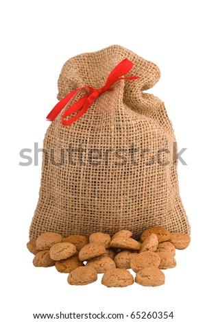 Bag for Pepernoten (gingernuts) Dutch biscuits specialty for Sinterklaas holliday
