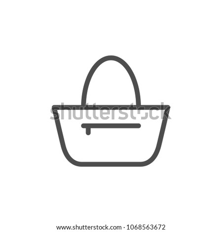 Bag line icon isolated on white